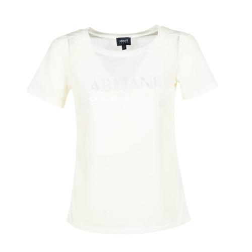 Armani jeans KAJOLA Bianco - Consegna Consegna Consegna gratuita   Spartoo    - Abbigliamento T-shirt maniche corte donna 64,50 81e