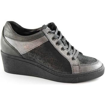 Scarpe Grunland  CURI SC2062 grigio scarpe donna laccio zeppetta plantare estrai