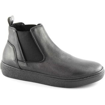 Scarpe Donna Stivaletti Grunland NIQU PO1606 nero scarpe donna mid beatles elastico platform Nero