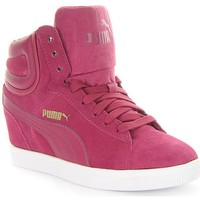 Scarpe Donna Sneakers alte Puma Vikky Wedge Bordeaux