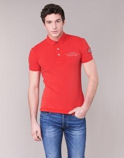 Abbigliamento Uomo Polo maniche corte Napapijri ELBAS Rosso