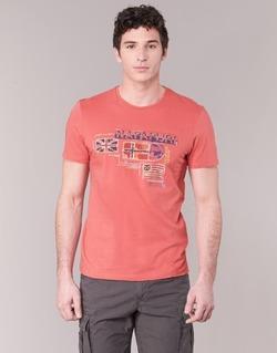 Abbigliamento Uomo T-shirt maniche corte Napapijri VINTAGE CORAIL
