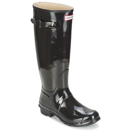 Hunter WOMEN'S ORIGINAL TALL GLOSS Nero  Scarpe Stivali da pioggia Donna 133,99