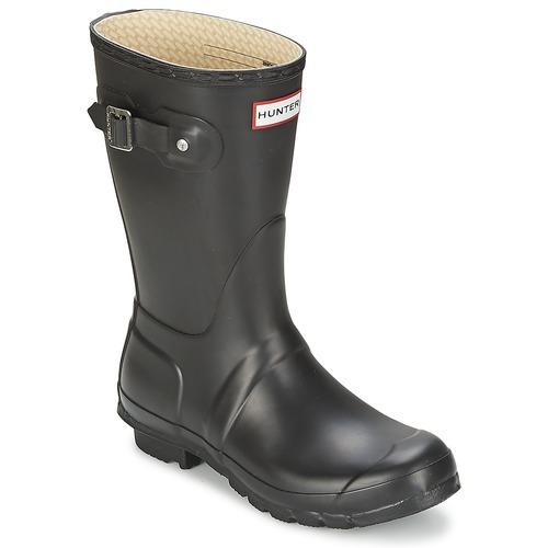 Hunter WOMEN'S ORIGINAL SHORT Nero  Scarpe Stivali da pioggia Donna 84