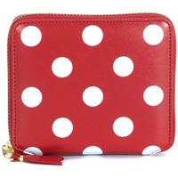 Borse Donna Porta monete Comme Des Garcons Portafoglio  in pelle rossa con pois Rosso