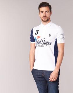 Abbigliamento Uomo Polo maniche corte U.S Polo Assn. SAINT TROPEZ POLO Bianco
