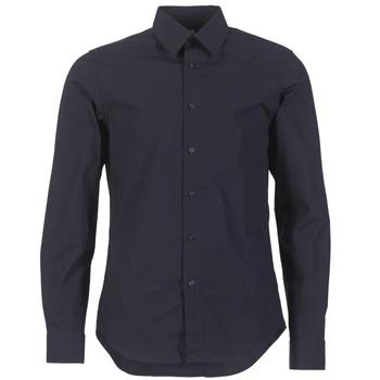 Abbigliamento Uomo Camicie maniche lunghe G-Star Raw CORE SHIRT MARINE