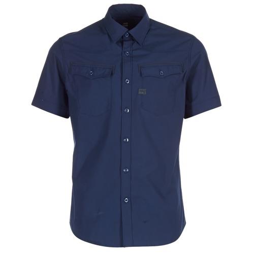 Abbigliamento Uomo Camicie maniche corte G-Star Raw 3301 SHIRT MARINE