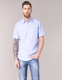 Abbigliamento Uomo Camicie maniche corte G-Star Raw LANDOH Blu