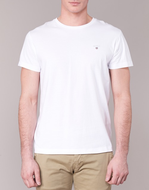 Bianco Corte The shirt T Original Maniche Gant rQxtdsCh