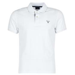 Abbigliamento Uomo Polo maniche corte Gant CONTRAST COLLAR PIQUE Bianco