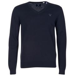 Abbigliamento Uomo Maglioni Gant WEIGHT COTTON V NECK MARINE