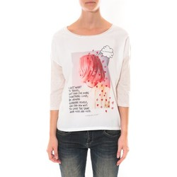 Abbigliamento Donna T-shirts a maniche lunghe Coquelicot Tee shirt   Blanc 16425 Bianco