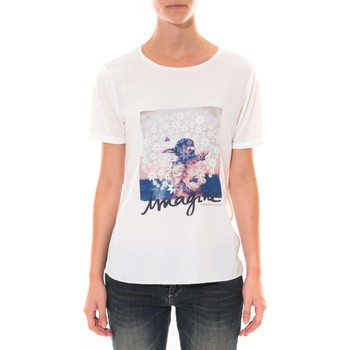 Abbigliamento Donna T-shirt maniche corte Coquelicot Tee shirt   Blanc 16426 Bianco