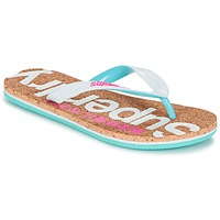 Scarpe Donna Infradito Superdry CORK COLOUR POP FLIP FLOP Bianco / Rosa / Blu