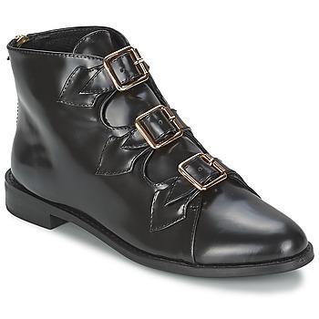 Scarpe Donna Stivaletti F-Troupe Triple Buckle Boot Black