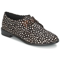 Scarpe Donna Derby F-Troupe Bow Polka Black / White