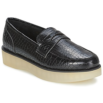 Scarpe Donna Mocassini F-Troupe Penny Loafer Black