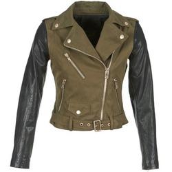 Abbigliamento Donna Giacca in cuoio / simil cuoio Diesel L-LUPUS-C KAKI / Nero