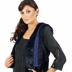 Abbigliamento Donna Giacche / Blazer April First GILET SANS MANCHE Blu