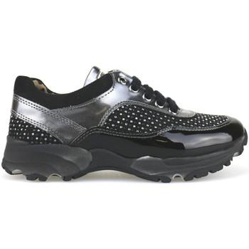 Scarpe Bambina Sneakers basse Nada scarpe bambina  sneakers nero camoscio grigio vernice strass AH1 multicolore