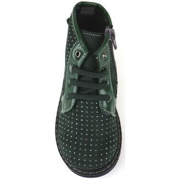 Scarpe Bambina Stivaletti Didiblu polacchini verde camoscio AJ952 verde