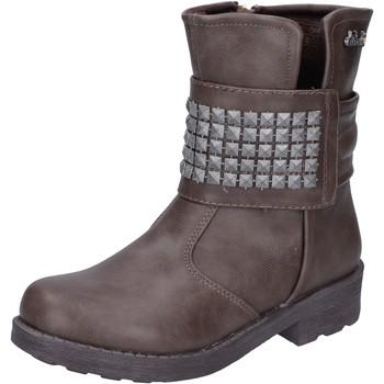 Stivaletti bambini Didiblu  scarpe bambina  stivaletti marrone pelle AH134