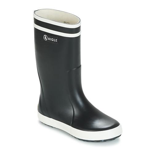 Scarpe Unisex bambino Stivali da pioggia Aigle LOLLY POP Marine / Bianco