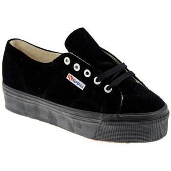 Scarpe Donna Sneakers basse Superga 2790 Velvet Sportive basse nero