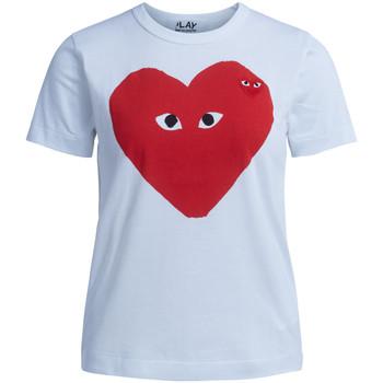 Abbigliamento Donna T-shirt maniche corte Comme Des Garcons T-shirt  bianca con stampa cuore Bianco