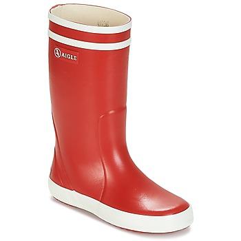 Scarpe Bambino Stivali da pioggia Aigle LOLLY POP Rosso / Bianco
