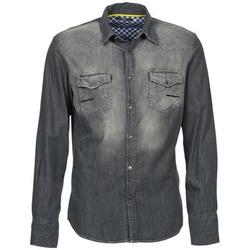 Abbigliamento Uomo Camicie maniche lunghe Meltin'pot CAREY Grigio