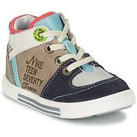 Scarpe Bambino Sneakers alte Catimini PIMENT Grigio / TURQUOISE