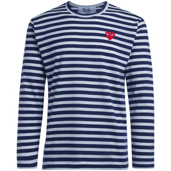 Abbigliamento Uomo T-shirts a maniche lunghe Comme Des Garcons T-Shirt  da uomo a righe Blu