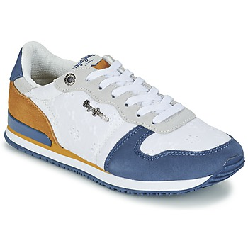 Scarpe Donna Sneakers basse Pepe jeans GABLE ANGLAISE SOUL Bianco / Blu / Grigio