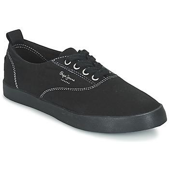 Scarpe Donna Sneakers basse Pepe jeans JULIA MONOCROME Nero