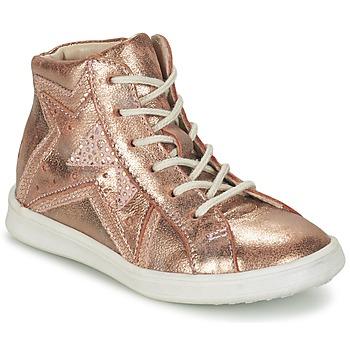 Scarpe Bambina Sneakers alte GBB PRUNELLA Rosa / Oro