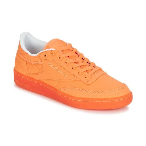 Reebok Classic CLUB C 85 CANVAS Arancio  Scarpe Sneakers basse Donna 45