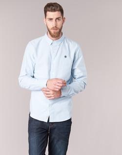 Abbigliamento Uomo Camicie maniche lunghe Timberland LS RATTLE RIVER OXFORD SHIRT SLIM Blu