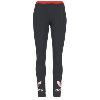 Abbigliamento Donna Leggings adidas Originals TREFOIL LEGGING Nero / Rosa