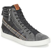 Scarpe Uomo Sneakers alte Diesel D-STRING PLUS Nero / Grigio
