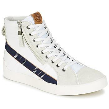 Scarpe Uomo Sneakers alte Diesel D-STRING PLUS Bianco / Blu