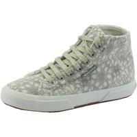 Scarpe Donna Sneakers alte Superga erga donna microtessuto bianco fantasia floreale tessuto grigio Lt Grey