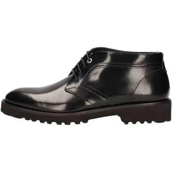 Scarpe Uomo Sneakers alte Marini W1619 STRINGATA Uomo NERO NERO