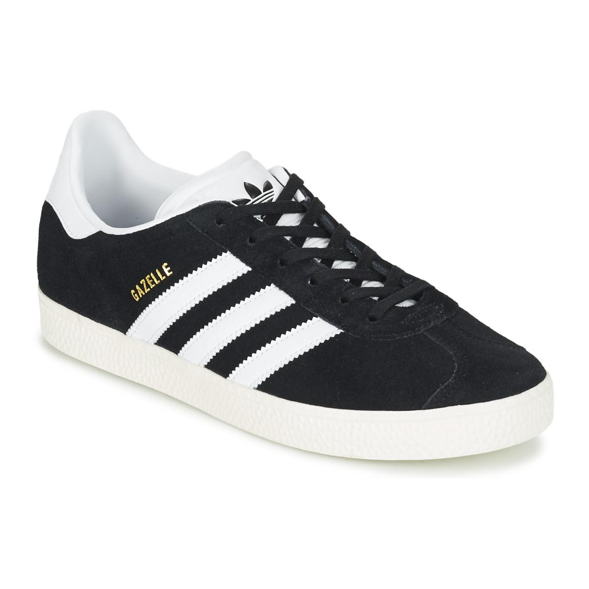 bij Spartoo Adidas verzending Babyschoenen gratis J Originals Zwart nl Sneakers Gazelle wqrwY60