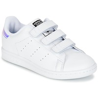 Scarpe Bambina Sneakers basse adidas Originals STAN SMITH CF C Bianco
