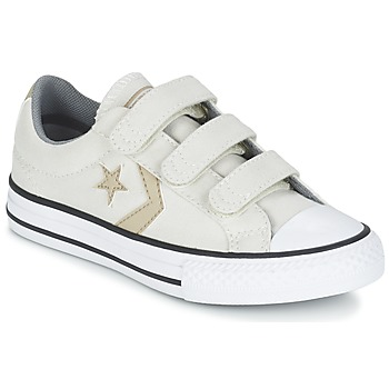 Scarpe Bambino Sneakers basse Converse STAR PLAYER 3V TEXTILE OX ECRU / KAKI