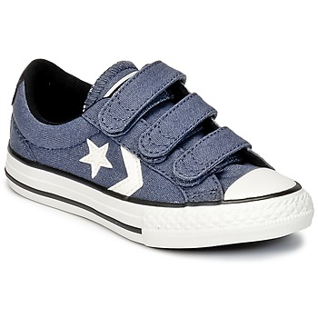 Scarpe Bambino Sneakers basse Converse STAR PLAYER 3V VINTAGE CANVAS OX Blu / Bianco
