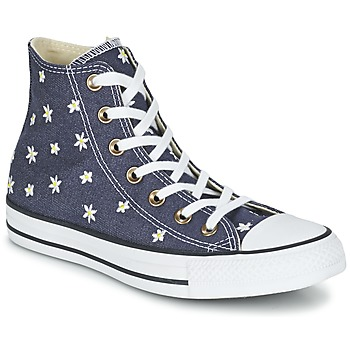 Scarpe Donna Sneakers alte Converse CHUCK TAYLOR ALL STAR DENIM FLORAL HI MARINE / Giallo / Bianco