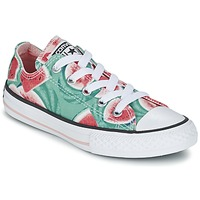 Scarpe Bambina Sneakers basse Converse CHUCK TAYLOR ALL STAR WATERMELON OX Verde / Rosso / Bianco